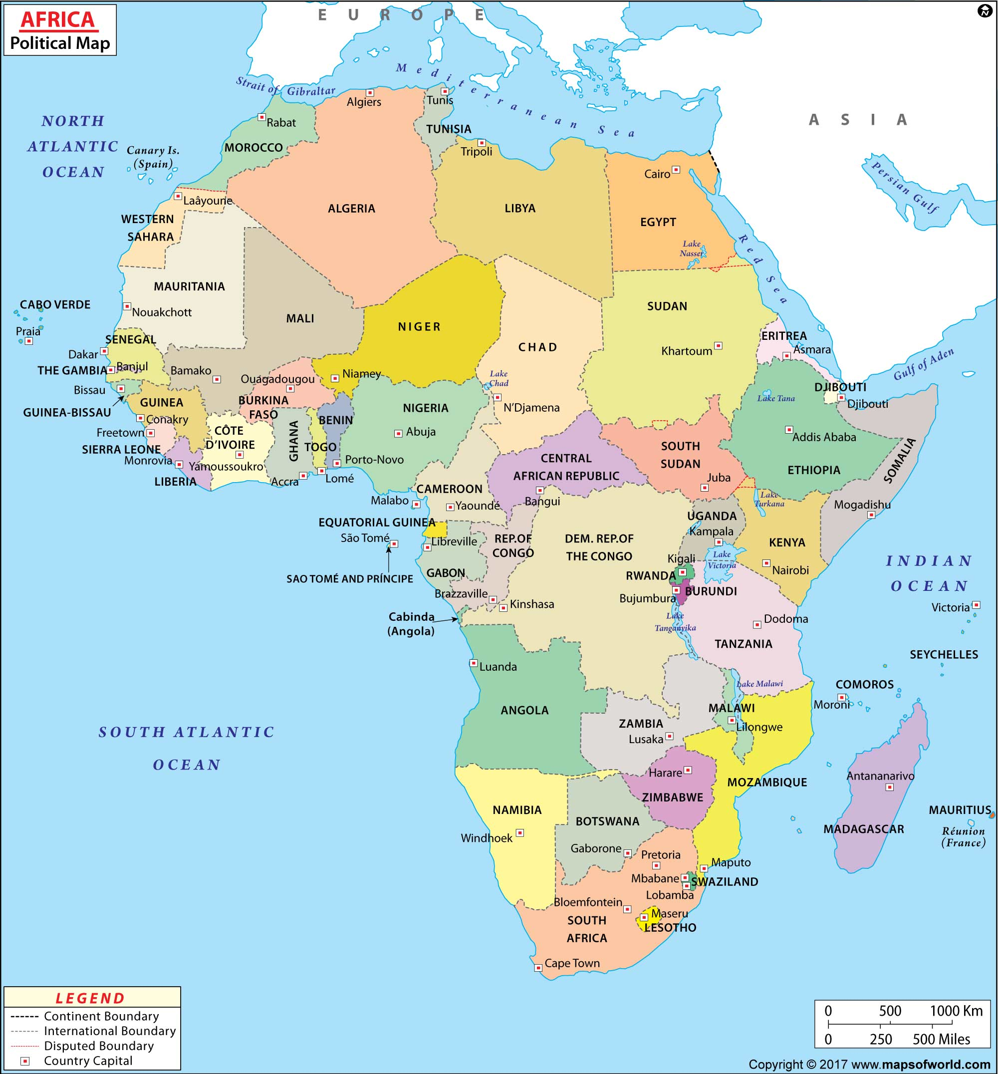 Large Africa Map Image | Large Africa Map HD Picture