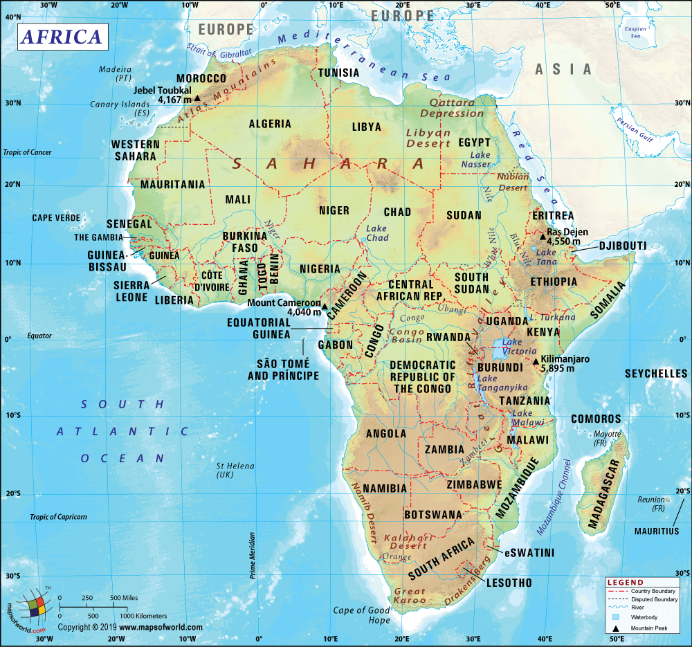 africa map full hd