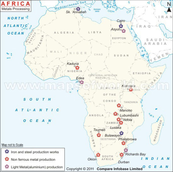 africa metal processing centers