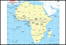 Africa Lat Long Map