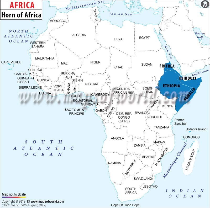 Horn Of Africa Map