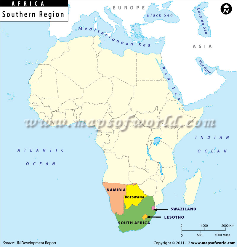 Map Of Africa Regions.Southern Africa Map Southern African Countries