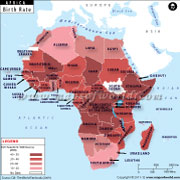 African Countries by Birth Rate