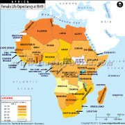 Female Life Expectancy at Birth in African Countries