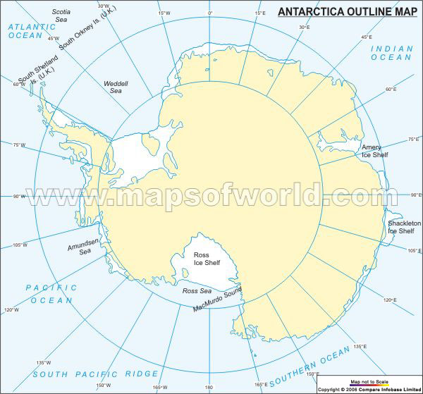 Antarctica Time Zone Map