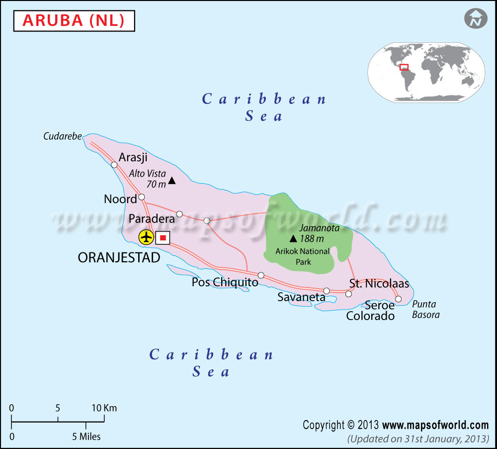 All about Where Is Aruba Located Map And Geography Of Our Caribbean ...