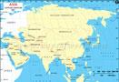 Asia Lat Long Map