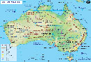 Australia Continent Map in French