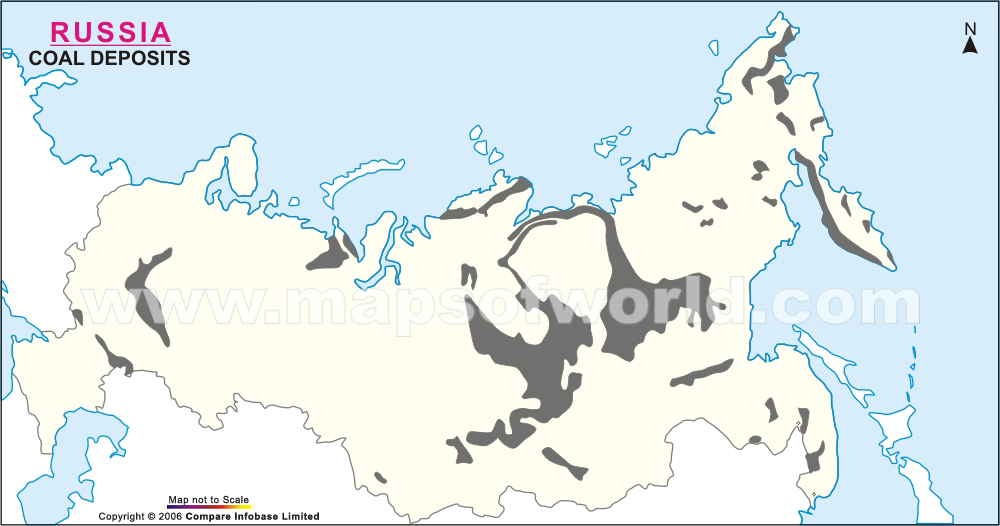 Russia Coal Deposits Map