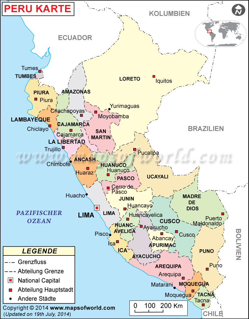 This is a picture of Critical Printable Map of Peru