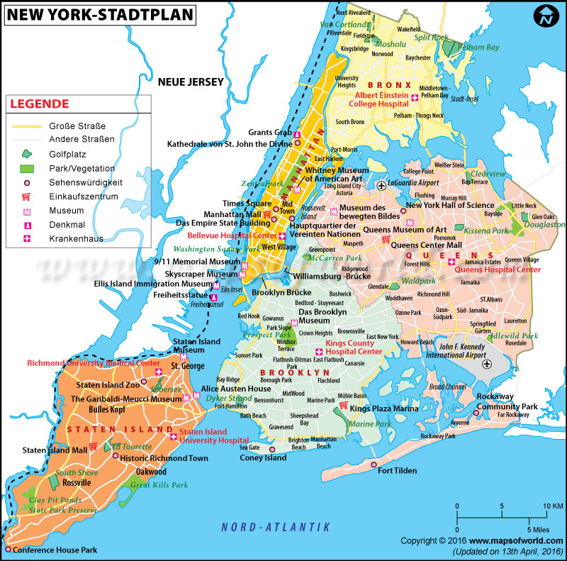 new york karte Stadtplan New York