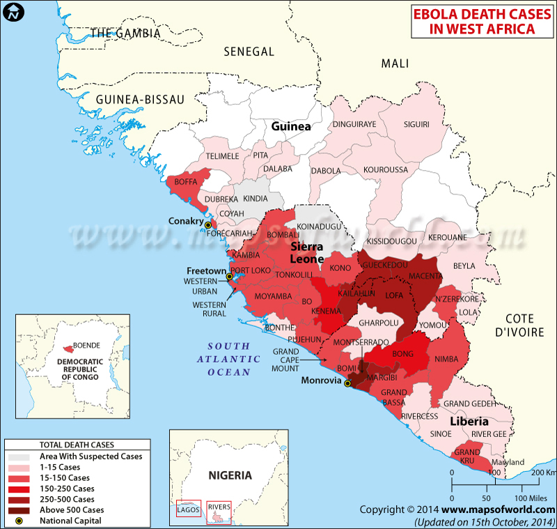 Ebola Death Toll in West Africa