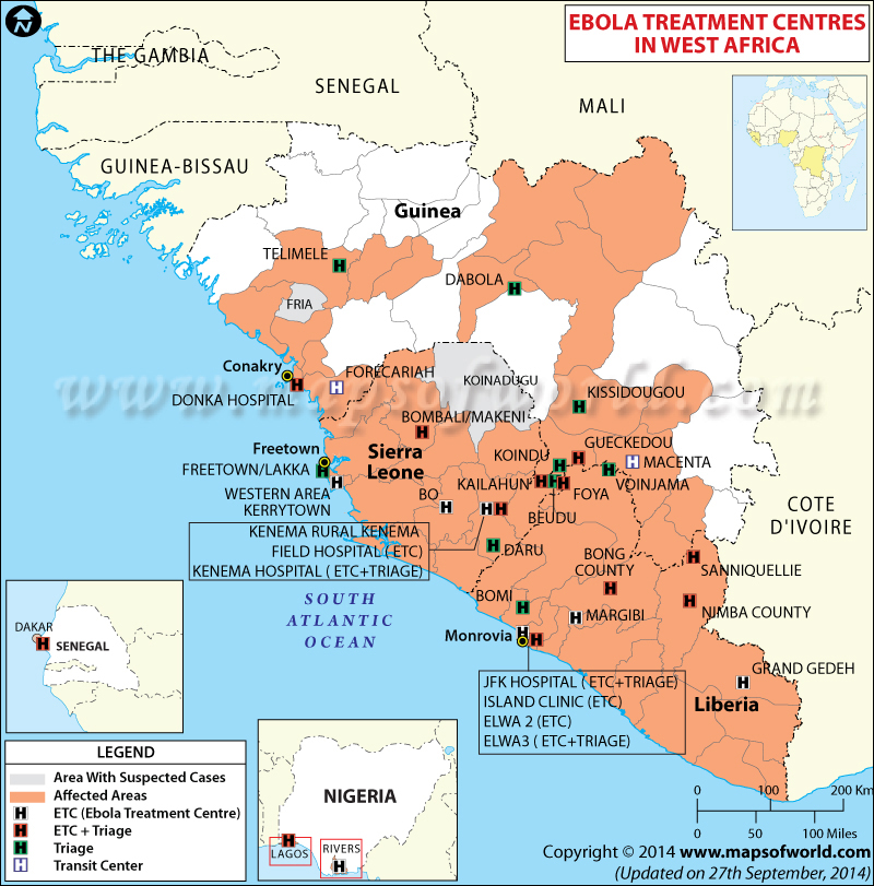 Ebola Treatment Centers in West Africa