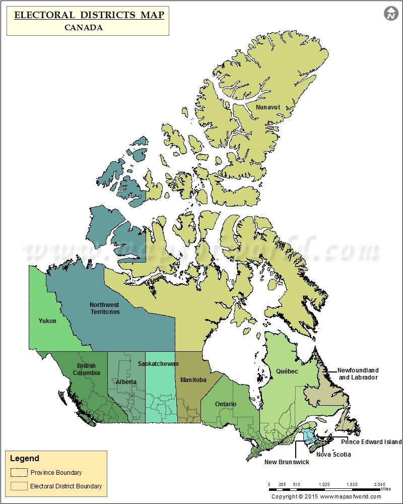 Electoral District Map Canada Map of Electoral Districts in Canada