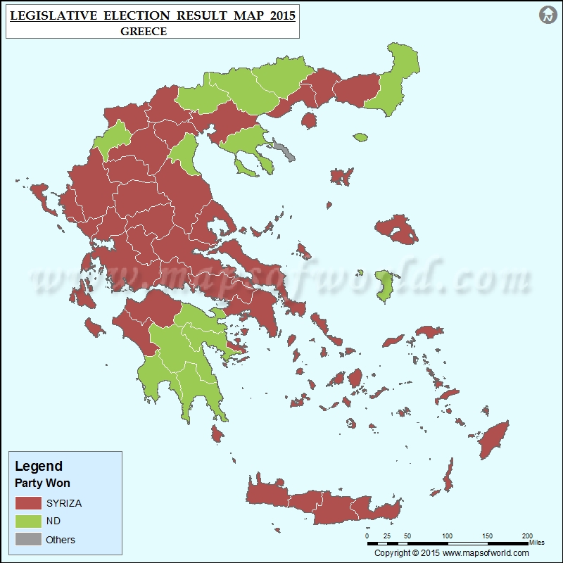 Map Of Greece Election Results Previous Election Results Of - Norway election map
