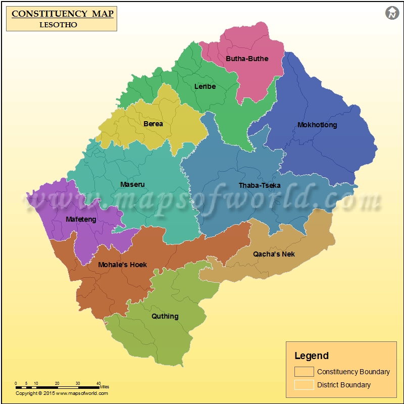 List of parliamentary constituencies of Lesotho