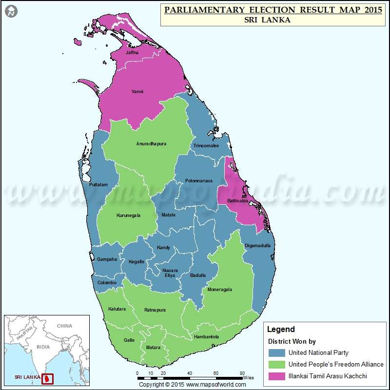 Map Of Sri Lanka Parliamentary Election Results - Argentina election map