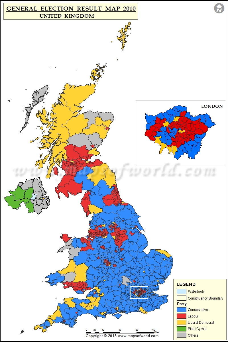 UK General Elections Results 2010 Map