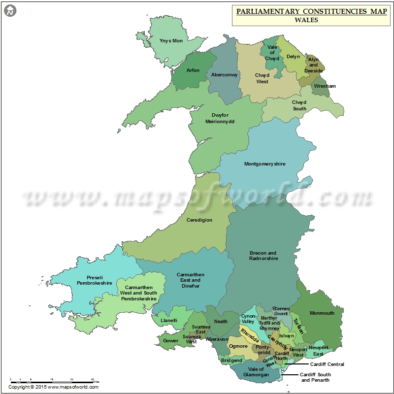 Map Of Uk Parliamentary Constituencies.Welsh Constituency Map Wales Constituencies