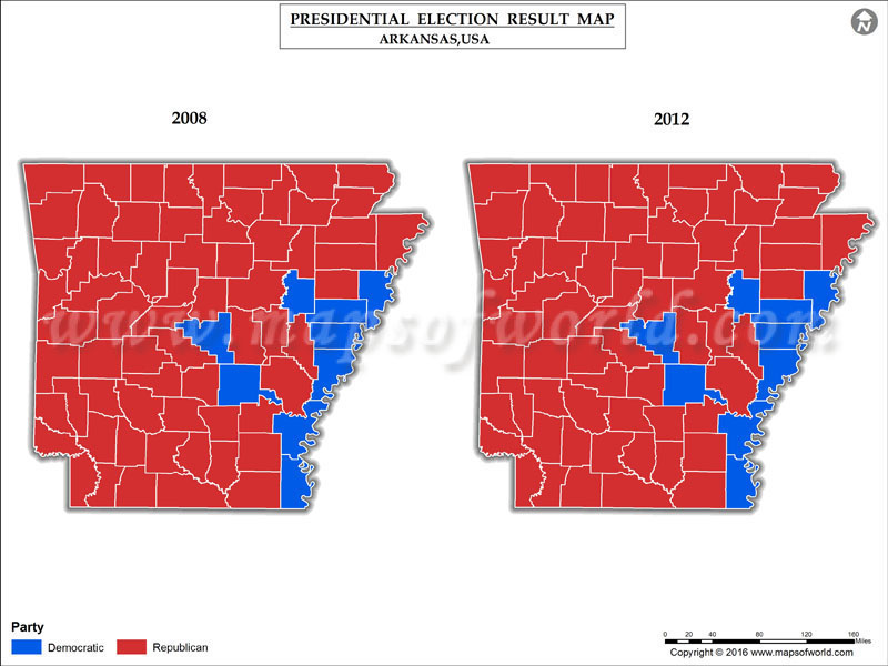 Arkansas Election Results Map Results By County Live Updates - Presidential election winning us map