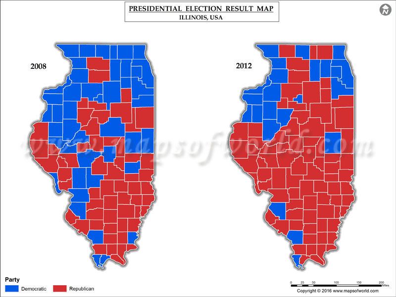 Illinois Election Results Map County Results Live Updates - Us map of voting results by county