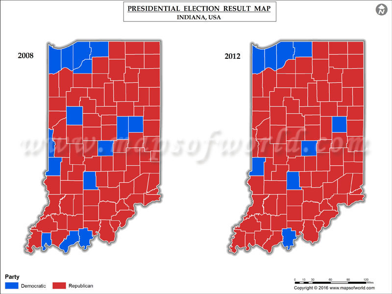 Indiana Election Results Map County Results Live Updates - Us map of voting results by county
