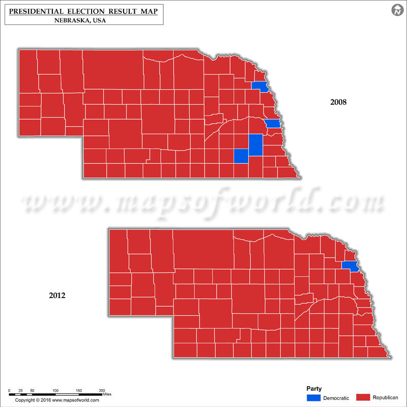 Map Of Us Presidential Election Results.Nebraska Election Results 2016 Map County Results Live Updates