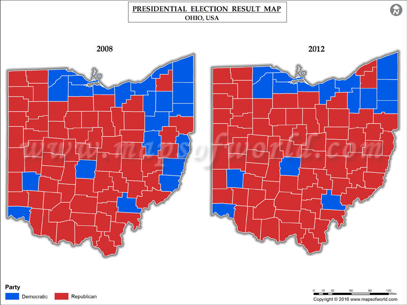 Ohio Election Results Map County Results Live Updates - 2016 election us map county