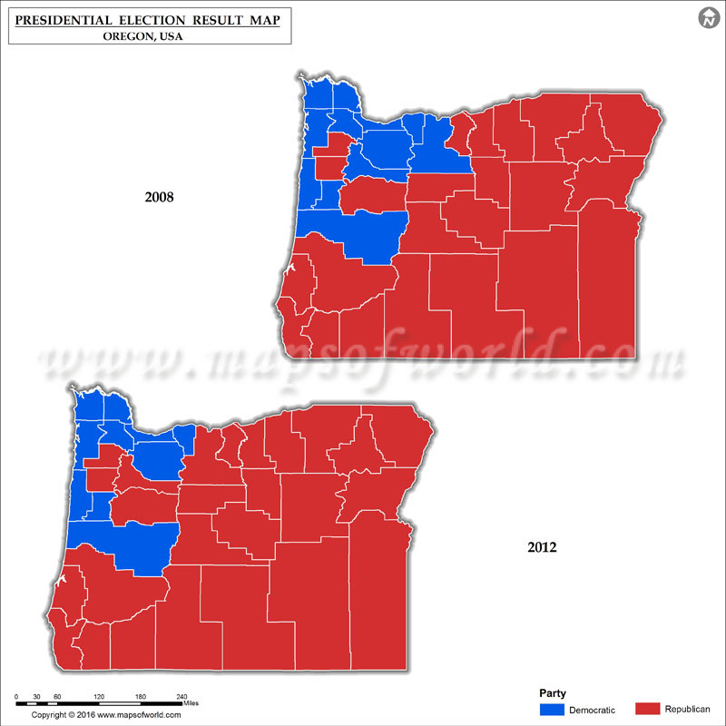 Oregon Election Results Map County Results Live Updates - 2016 election us map county