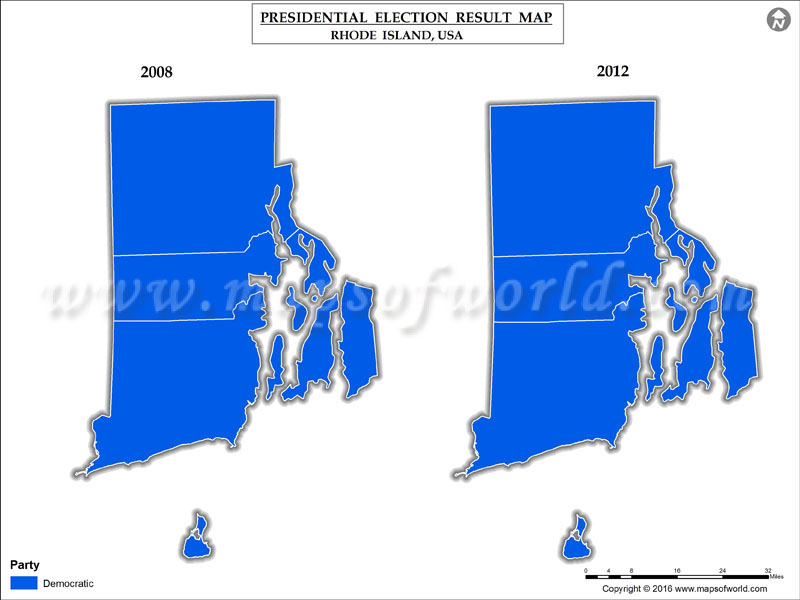 Rhode Island  Election Results