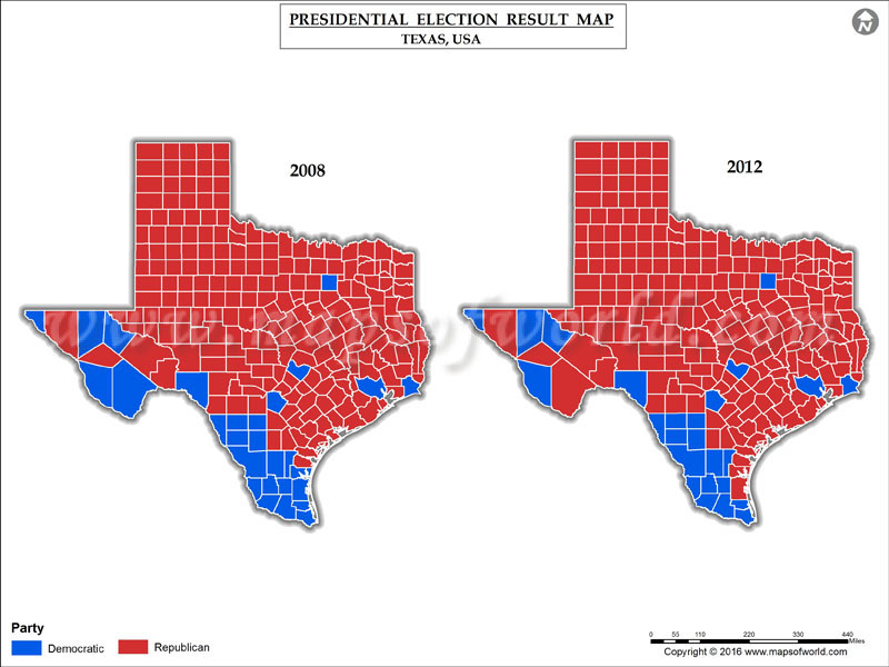 Texas Election Results Map County Results Live Updates - Us map of voting results by county