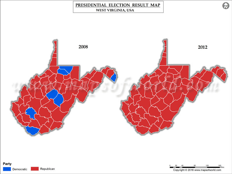 West Virginia Election Results Map County Results Live - 2016 election us map county