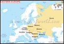 Europe de l'Est Carte