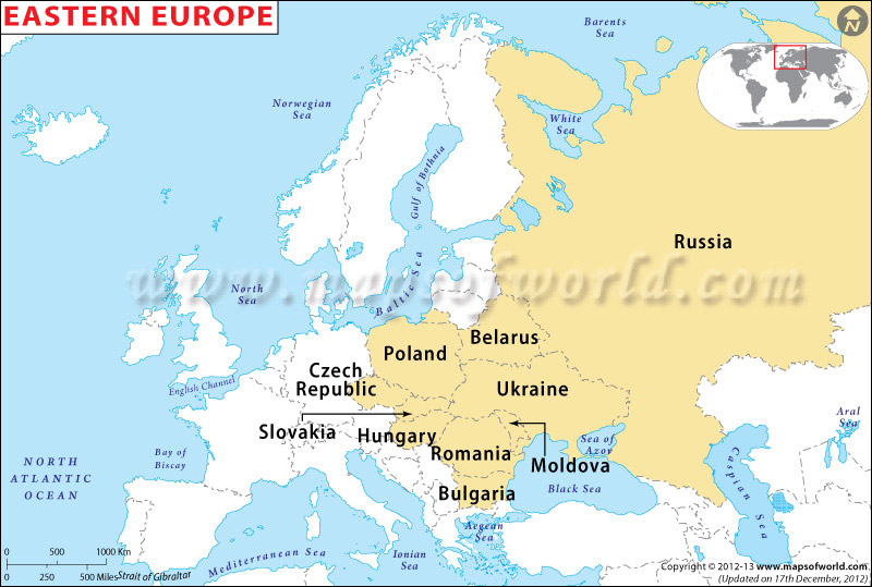 Eastern Europe Map Eastern European countries