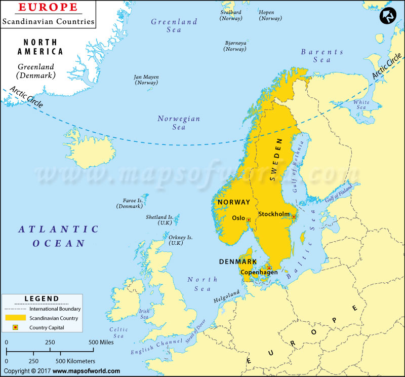 Map Of Scandinavian Countries Map of Scandinavian Countries, Scandinavia Map