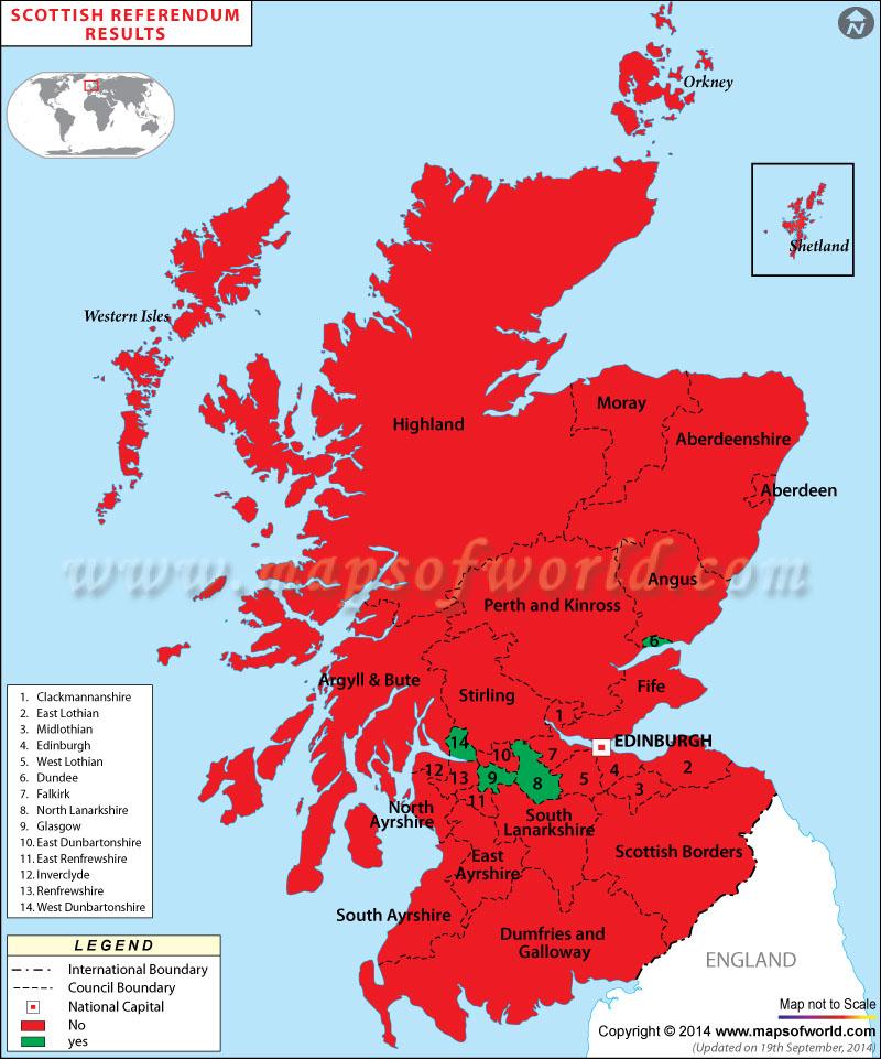 Scottish Referendum Live Results