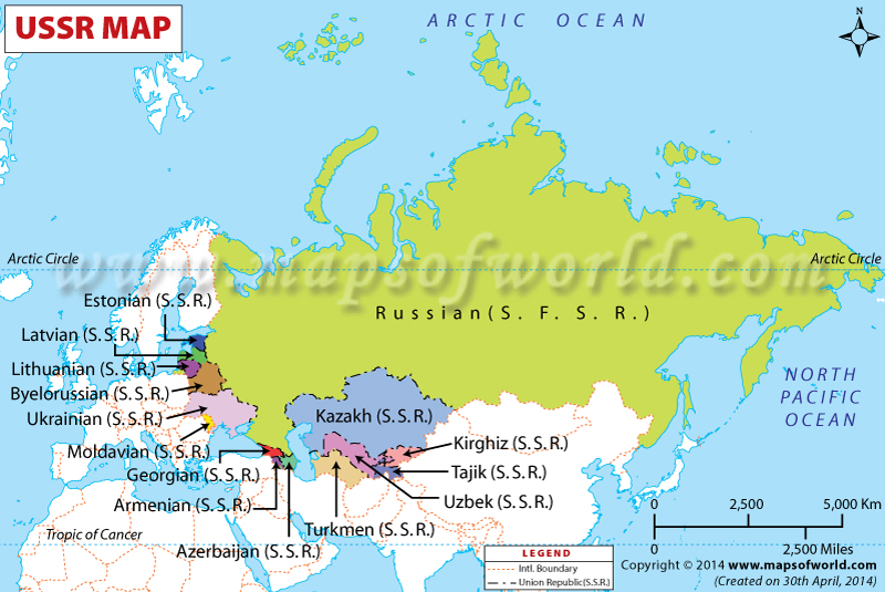 USSR Map Soviet Union Map
