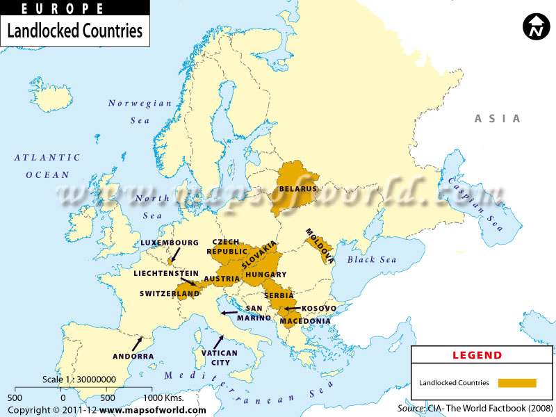 landlocked countries in europe