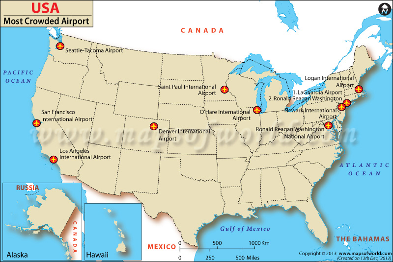 Major US And Canadian Airports Maps IATA Codes And Links Map Of - Map of major us airports