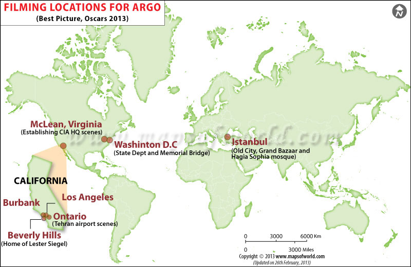 Filming Locations for Argo best Picture Oscar 2013