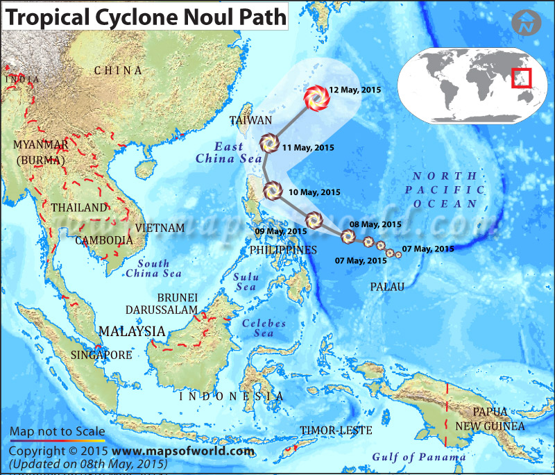 Path Map of Cyclone Noul