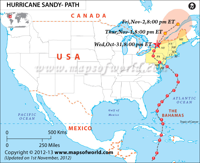 Hurricane Sandy Map