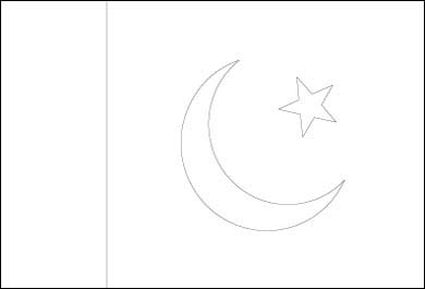 Blank Pakistan Flag