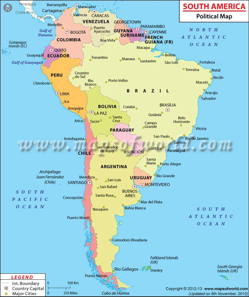 South American Countries Countries in South America