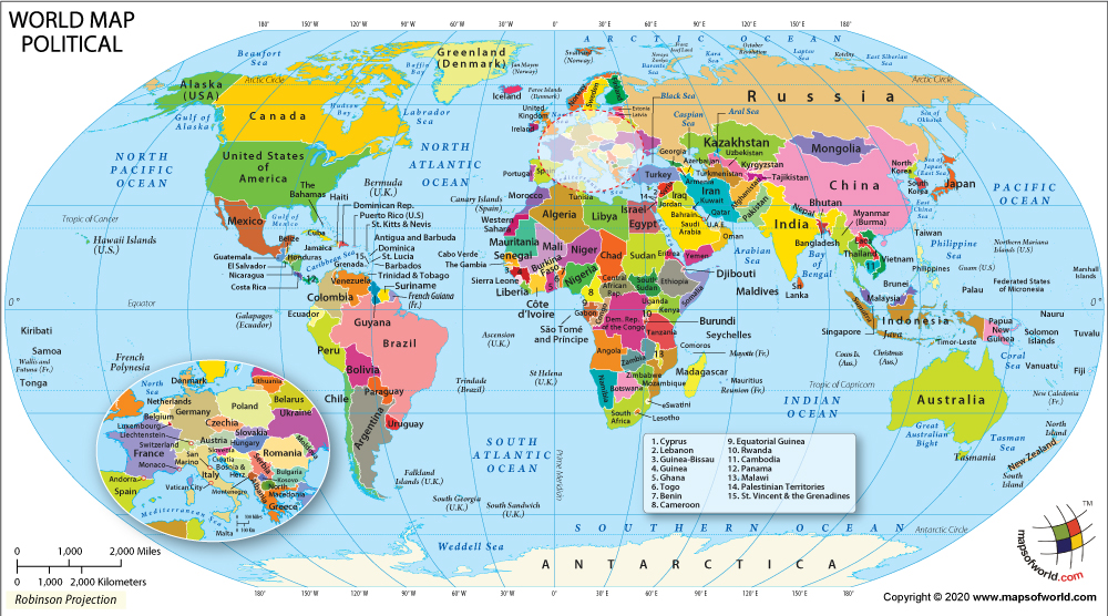 World Map With All Countries Map of Countries of the World | World Political Map with Countries
