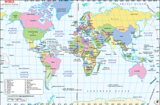 Latitude and Longitude Map of the World
