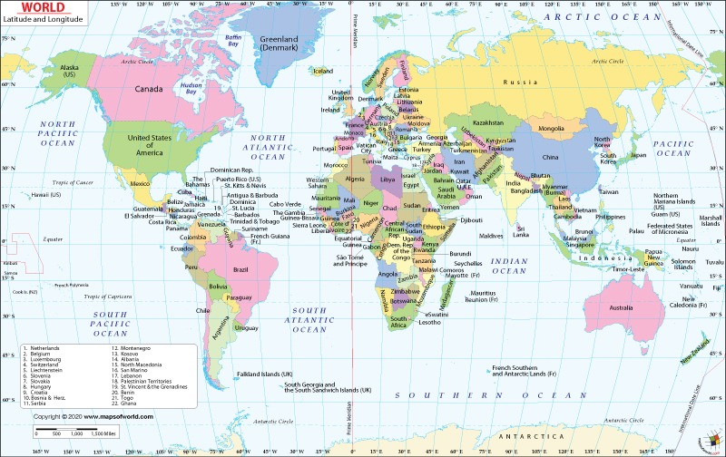 Lat And Long World Map Latitude and Longitude Map | World Map with Latitude Longitude