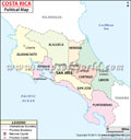 Costa  Rica  Political  Map