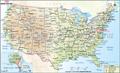 USA Major Cities Digital Map