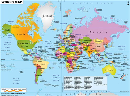 Map Of The World Com.What Are The Top 10 Richest Countries In The World Answers